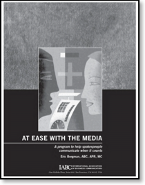 At Ease With the Media: Media Training Book Cover